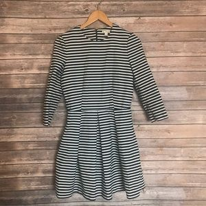 GAP navy white striped fit and flat dress